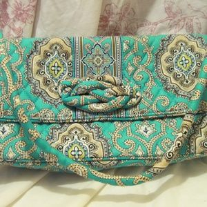 VERA BRADLEY KNOT JUST A KNOT CLUTCH TURQ TURQUOIS